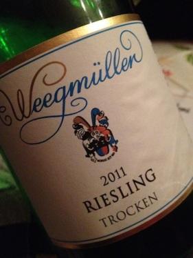 Weegmüller 2011 Riesling trocken
