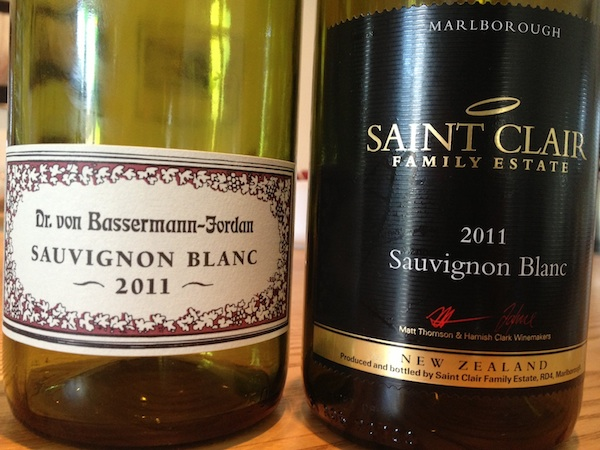 Blindprobe: Sauvignon Blanc Bassermann-Jordan und Saint Clair