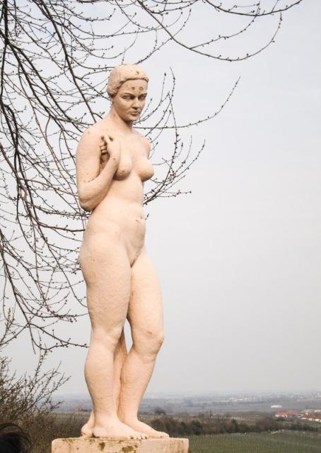 Eva im Paradiesgarten Deidesheim. © Foto Lars O Larsson