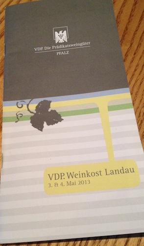 VDP Pfalz. Weinkost Landau Flyer