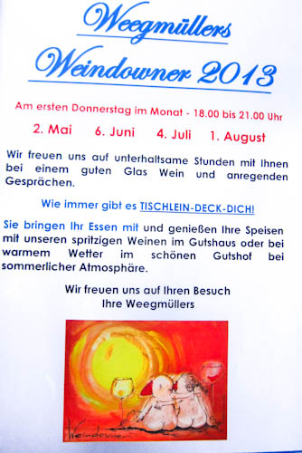 Weegmüllers Weindowner