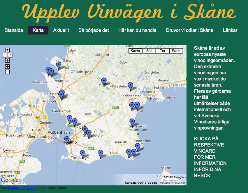 Skånska vinvägen. Mehr Info: www.vinvagen.se