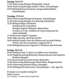 Programm #Pfalz14 #winelover