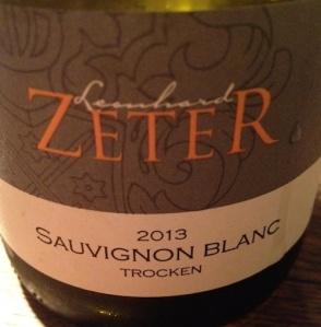 2013 Sauvignon Blanc trocken, Leonhard Zeter