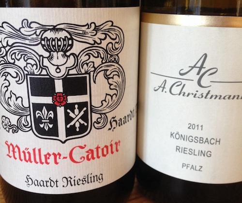 Müller-Catoir Haardt Riesling & Christmann Königsbach Riesling