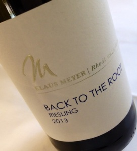 2013 Riesling Back to the Root