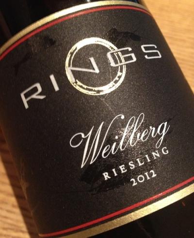 2012 Weilberg Riesling trocken, Rings