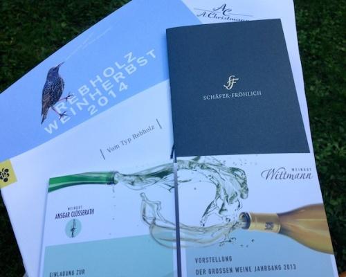 Grosse Weine 2013 im Weingut Christmann