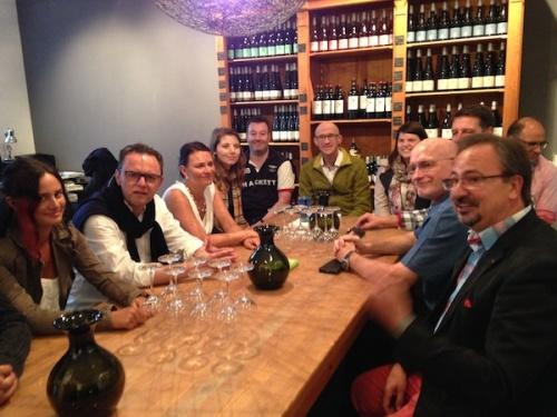 Weinprobe Neustadter Weinfreunde bei Oliver Zeter.