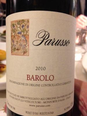 Barolo DOCG 2010, Parusso Piemonte