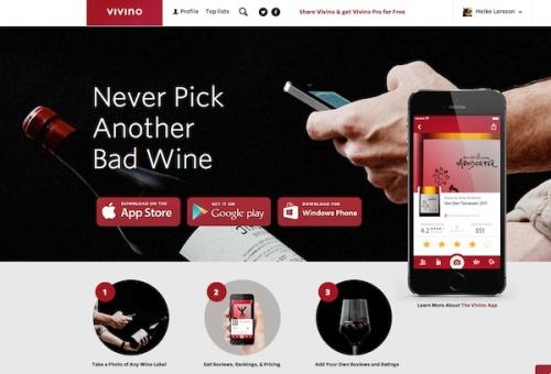 Vivino Homepage