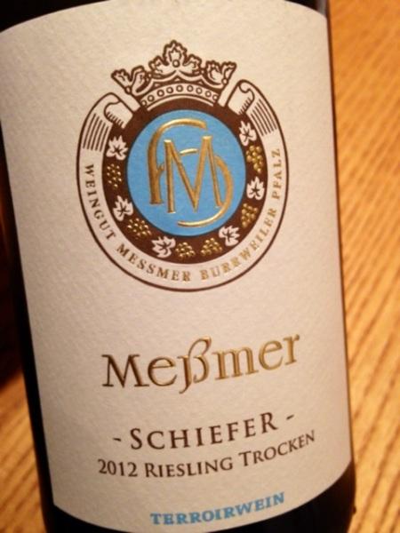 2012 Riesling trocken Schiefer, Messmer