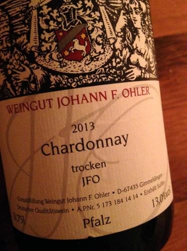 2013 Chardonnay JFO trocken, Weingut Johann F. Ohler