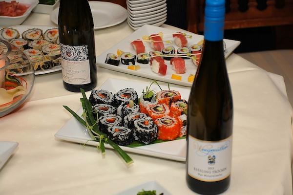 Sushi & Wein. Foto © Stephan Nied