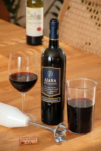 Verschlossener Rotwein