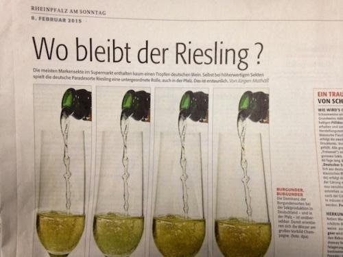 Rheinpfalz Bericht zum Riesling Sekt