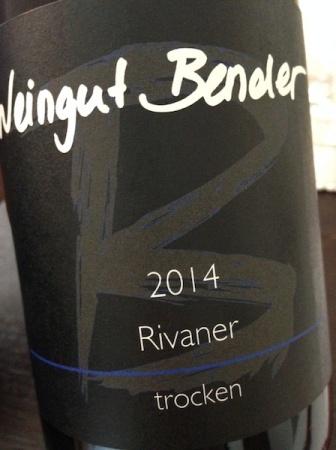 2014 Rivaner, Weingut Bender
