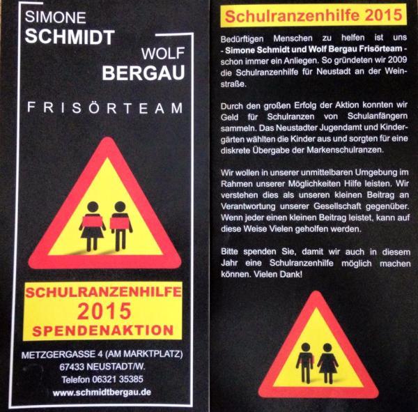 Simone Schmidt & Wolf Bergau Frisörteam Schulranzenhilfe