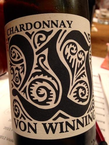 2012 Chardonnay I, von Winning