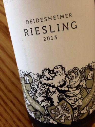 2013 Deidesheimer Riesling , von Buhl