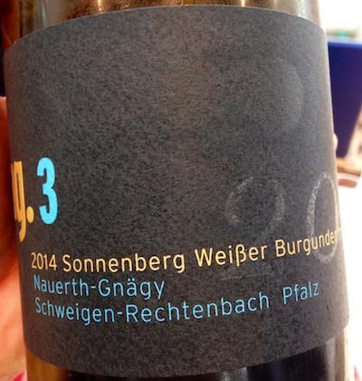 2014 Sonnenberg Weisser Burgunder, Nauerth-Gnägy