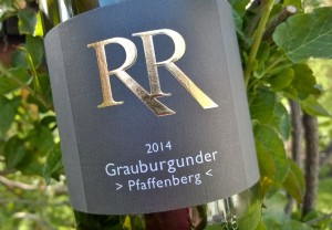 Grauburgunder >Pfaffenberg< 2014, Rinck