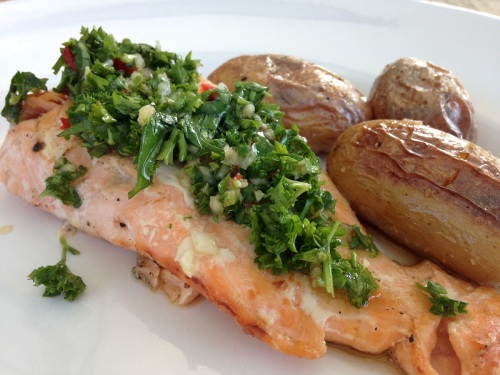 Lachs mit Chimichurrisauce