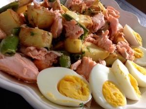 Grill-Lachs-Salat