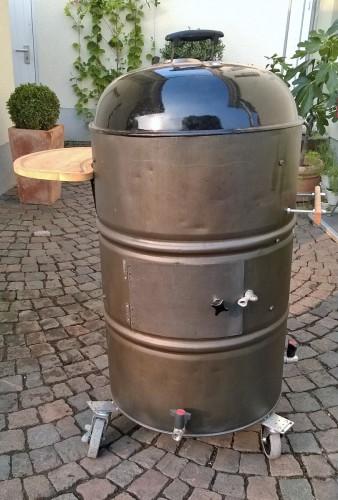 UDS - Ugly Drum Smoker, selbstgebaut