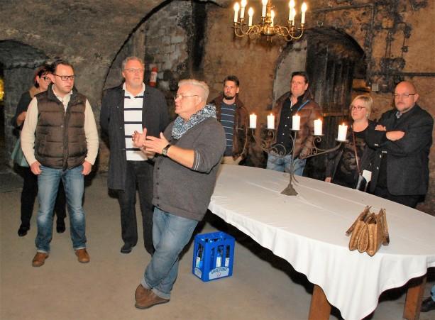 Empfang im historischen Weinkeller
