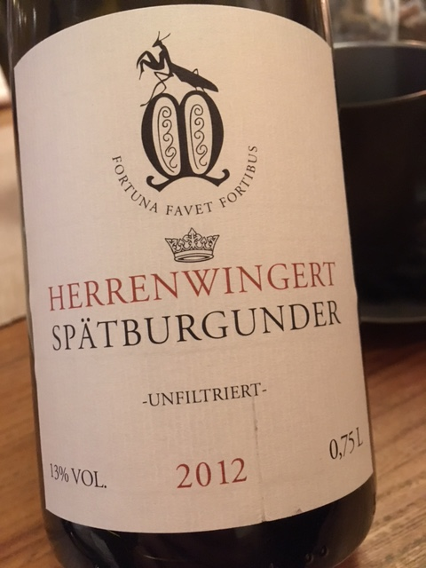 2012 Herrenwingert Spätburgunder, Mantishof