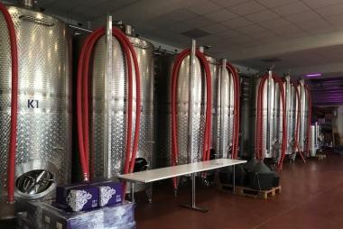 Edelstahlkeller im Weingut am Nil